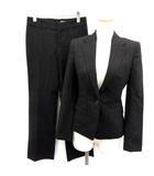 アンタイトル UNTITLED ON CLOSET スーツ セットアップ 上下 ジャケット パンツ ストライプ 1 黒 ブラック 赤 /EK