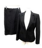 ミス アシダ miss ashida スーツ セットアップ 上下 ジャケット スカート 9 黒 ブラック /TK