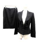 ミス アシダ miss ashida スーツ セットアップ 上下 ジャケット スカート 11 黒 ブラック /TK