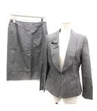 ミス アシダ miss ashida スーツ セットアップ 上下 ストライプ ジャケット スカート 9 11 グレー /TK