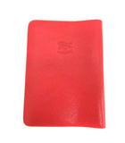 イルビゾンテ IL BISONTE ブックカバー レザー 赤 レッド /EK ●D