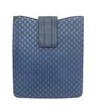 グッチ GUCCI タブレットケース iPadケース GG シマレザー 紺 ネイビー /KH