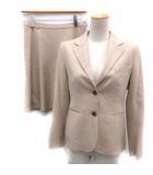 セオリー theory スーツ セットアップ 上下 ジャケット スカート ベージュ /EK