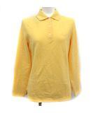 ブルックスブラザーズ BROOKS BROTHERS ポロシャツ 長袖 刺繍 M 黄色 イエロー /KH ■BR