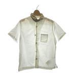 キャピタル kapital シャツ 半袖 リネン 1 白 ベージュ /NT21