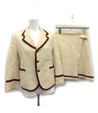トリココムデギャルソン tricot COMME des GARCONS スーツ セットアップ 上下 ジャケット スカート M アイボリー /KH ●D