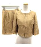 アナイ ANAYI セットアップ 上下 スーツ ジャケット スカート 36 茶 /EK