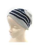 ヴィヴィアンウエストウッド Vivienne Westwood 帽子 ニット キャップ オーブ柄 紺 グレー /YM