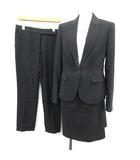 ポールスミス ブラック Paul Smith BLACK スーツ セットアップ 3点セット ジャケット スカート パンツ 40 チャコールグレー /KH ●D
