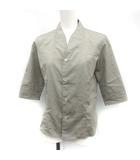 アンダーカバー UNDERCOVER ノーカラーシャツ ブラウス CHAOTIC DISCORD 五分袖 F グレー /YM