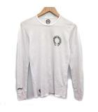 クロムハーツ CHROME HEARTS Tシャツ カットソー 長袖 CHクロス ロゴ M 白 ホワイト /KH ●D