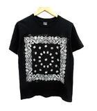 ナンバーナイン NUMBER (N)INE Tシャツ カットソー 半袖 ペイズリー柄 2 黒 ブラック /KH