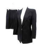 エンポリオアルマーニ EMPORIO ARMANI セットアップ 上下 スーツ ジャケット テーラード スカート ミニ 40 紺 ネイビー /SR10