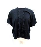 プラダ PRADA 18SS Tシャツ カットソー 半袖 フリル M 紺 /NT1
