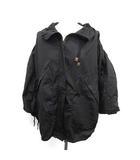 ルイヴィトン LOUIS VUITTON 19SS ジャケット パーカウィズギャザースリーブ ナイロン 36 黒 ブラック 1A560X /YM