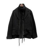 ナンバーナイン NUMBER (N)INE ドッキングジャケット ブルゾン ベスト 3WAY ウール 2 黒 ブラック /TK
