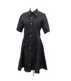 アクネ ストゥディオズ Acne Studios 18SS シャツ ワンピース 半袖  ひざ丈 32 黒  /☆G
