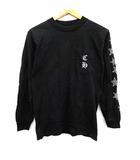 クロムハーツ CHROME HEARTS Tシャツ カットソー 長袖 プリント ロゴ S 黒 ブラック /KH