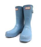 ハンター HUNTER レインブーツ 長靴 ラバー ショート US8 水色 ブルー /TK