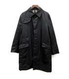 バーバリーブラックレーベル BURBERRY BLACK LABEL ステンカラーコート ライナー付き ナイロン L 黒 ブラック /EK