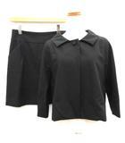 ドレステリア DRESSTERIOR セットアップ スーツ 上下 ジャケット スカート 38 黒 ブラック /EK