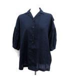 カラー kolor シャツ ブラウス 半袖 1 紺 ネイビー /YM