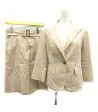 バーバリー BURBERRY スーツ セットアップ 上下 ジャケット シングル スカート ひざ丈 36 ベージュ /MF40