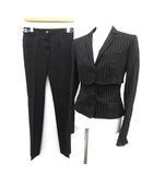 ドルチェ&ガッバーナ ドルガバ DOLCE&GABBANA スーツ セットアップ 3点セット ジャケット ベスト パンツ 36 黒 ブラック /KH