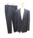 セオリー theory スーツ セットアップ テーラードジャケット シングル 総裏地 42 パンツ スラックス 34 ストライプ ネイビー /MF37