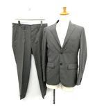 エディフィス EDIFICE 17SS スーツ セットアップ 上下 シングル ジャケット パンツ 46 グレー /YM