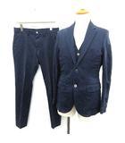 エディフィス EDIFICE 17SS スーツ セットアップ 上下 3点セット シングル ジャケット ベスト パンツ 46 紺 ネイビー /YM ●D