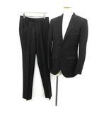 トゥモローランド TOMORROWLAND スーツ セットアップ シングル ジャケット パンツ 44 黒 ブラック /YM