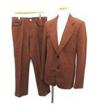 プラダ PRADA スーツ セットアップ 上下 ジャケット パンツ 48R 茶 ブラウン /KH