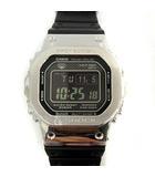 カシオジーショック CASIO G-SHOCK 腕時計 デジタル Bluetooth 搭載 電波ソーラー 黒 シルバー GMW-B5000 /YM ●D