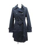 トラディショナルウェザーウェア Traditional Weatherwear トレンチコート スプリング 背抜き コットン 34 紺 ネイビー /MF23 ●D