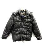 モンクレール MONCLER ダウンジャケット 青タグ フード 2 黒 ブラック /TK