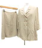 フェンディ FENDI スーツ セットアップ 上下 テーラードジャケット ダブル スカート ひざ丈 40 ベージュ /MF35