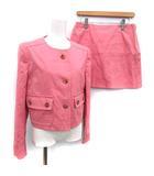 プラダ PRADA スーツ セットアップ 上下 ジャケット スカート 42 ピンク /KH