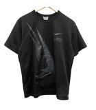 ブラックコムデギャルソン BLACK COMME des GARCONS ナイキ NIKE AD2018 Tシャツ カットソー 半袖 ロゴ プリント L 黒 ブラック /KH