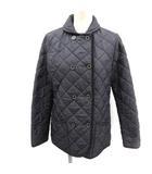 トラディショナルウェザーウェア Traditional Weatherwear キルティングジャケット ダブル 中綿 36 紺 ネイビー /EK ●D