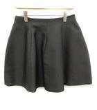 ルイヴィトン LOUIS VUITTON 18SS スカート ミニ フレア シルク 絹 36 黒 ブラック /MF12