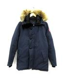 カナダグース CANADA GOOSE ダウンジャケット JASPER ジャスパー フード コヨーテファー M 紺 ネイビー 3438JM /KH