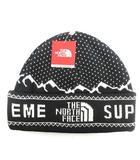 ザノースフェイス THE NORTH FACE シュプリーム Supreme 18AW  ニット帽 帽子 エクスペディションフォールドビーニー Expedition Fold Beanie NN418031 黒 ブラック /MF2