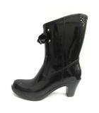 ダイアナ DIANA レインブーツ 長靴 ラバー M 黒 ブラック /TK ●D