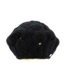 ヘレンカミンスキー HELEN KAMINSKI ベレー帽 ニット帽 ニットキャップ カシミヤ 黒 ブラック /KH