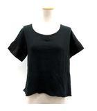キャピタル kapital Tシャツ カットソー 半袖 リネン 切替 0 黒 ブラック /TK ●D