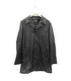 ショット SCHOTT シュプリーム SUPREME 19AW M レザーコート Leather Overcoat ラム 羊革 黒 ブラック /TK