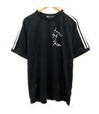 ワイスリー Y-3 adidas ヨウジヤマモト L 19SS Tシャツ カットソー プリント 半袖 黒 ブラック /EK