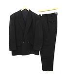 AD1991 スーツ セットアップ 上下 ジャケット パンツ ダブル ヴィンテージ M 黒 ブラック /KH