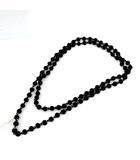 エムエムシックス MM6 メゾンマルジェラ ネックレス ペンダント ロング 黒 ブラック /KH
